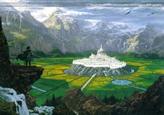 Tuor, as he finds the hidden city of Gondolin. This is probably my favorite rendering of this scene by Ted Nasmith.