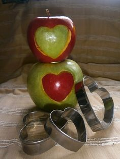 juntos, manzanas para dos...
