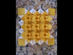 Origami Instructions: Sandclover Tessellation (Martin Sejer Andersen) - Part Two - YouTube