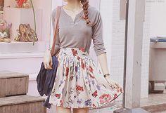 cute skirt #kfashion
