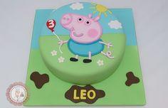 Mari Leal Cupcakes: Peppa Pig Party - George