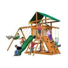 Gorilla Playsets Outing III Cedar Playset 01-0001 at The Home Depot - Mobile