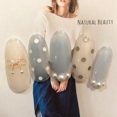 オールシーズン/デート/女子会/ハンド/ドット - naturalbeautyのネイルデザイン[No.3021619]|ネイルブック