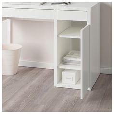 Great Pictures MICKE Desk - white - IKEA Ideas An Ikea kids' space continues to intrigue the children, since they are provided a lot more than y Study Room Decor, Teen Room Decor, Room Ideas Bedroom, Bed Room, White Desk Bedroom, White Desks, Small White Desk, Home Office Design, Adjustable Shelving