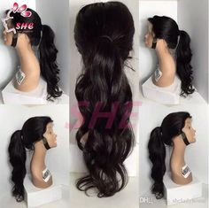 130% Density Top Quality Virgin Brazilian Lace Front Wig / Wavy Glueless Full Lace Human Hair Wigs for Black Women Online with $72.88/Piece on Sheladyhouse's Store | DHgate.com