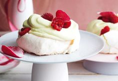 Baby rosewater pavlovas with sugared rose petals and raspberries Master the art of these delicate delights and whip up heavenly, airy desserts like a pro - its surprisingly simple. Xmas Food, Christmas Desserts, Christmas Recipes, Christmas Art, Christmas Ideas, Mini Pavlova, Cocoa Recipes, Water Recipes, Pavlova Recipe