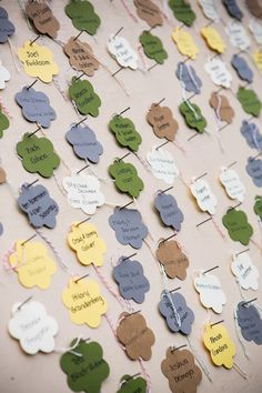 Die cut Flower Place Cards
