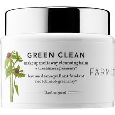 Farmacy Green Clean Makeup Meltaway Cleansing Balm ($34) ❤ liked on Polyvore featuring beauty products, skincare, face care, face cleansers, cute fillers and moisturizing face wash