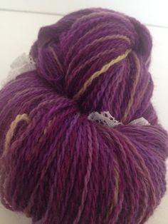 Last day for 30% off code Spring30 is 4/15/13! Purple Macaroon Fingering Weight Hand Dyed Yarn. $21.00, via Etsy.