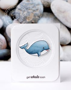 Sunny Studio Stamps: Oceans Of Joy Clean and Simple Get Well Card by Karin Åkesdotter