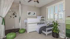 A little #girls' #room with space to play at The Bridges at #Gilbert