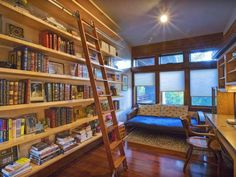 Library room in a home in Idaho
