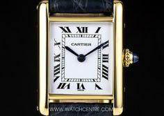 Cartier 18k Y/G Silver Roman Dial Tank Ladies Wristwatch  http://www.watchcentre.com/product/cartier-18k-y-g-silver-roman-dial-tank-ladies-wristwatch/3199