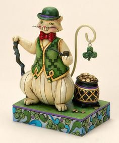 Take a look at this Irish Cat Figurine by Jim Shore on #zulily today!