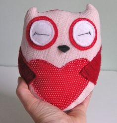 Tiny Wee Hoot Owl - Valentine Lovers - Eco Friendly Kids Plush Doll with Secret…