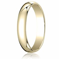 4MM Classic Domed 10K Gold Traditional Fit Wedding Ring. Price starts at $159.99. Price increase for sizes 8+. See more at Ring-Ninja.com!    #ringninja #yellowgold #realgold #affordablegold #goldring #preciousmetal