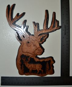 Nature's Majesty Deer Scroll Saw Wall Plaque