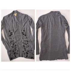 """Long gray cardigan size medium Brand is R898, purchases from Alloy.               Condition: Some fuzz and fade Shoulder to hem: 30"""" Smoke free, ferret friendly home ALLOY Sweaters Cardigans"""