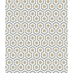 Cole & Son  David Hicks  Hicks Hexagon  by MarleyMaterial on Etsy, $105.60