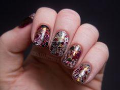 splatter nails via fashionpolish