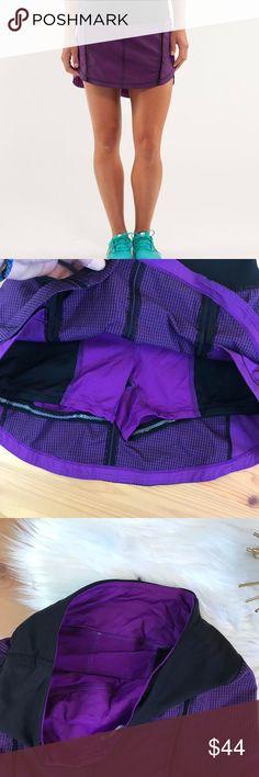 Lululemon full stride skirt gingham violet