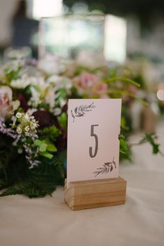 Illustrated table number | Image: Tanya Jacobs