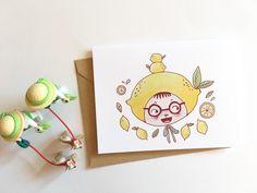 cute lemon boy illustration cards / boy illustration /Handmade card /cute cards /kids illustrations/ kids art /lemon drawing/card set by JJLynnDesign on Etsy   #kids #art #illustration #cute #Lemon #boy #papergoods #Etsy #Etsyseller #Etsyshop #JJLynndesign