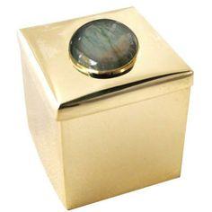 Addison Weeks Labradorite & Brass Square Gemstone Box  #currentlycoveting #holidays2015 #holidaze #holidaystyle