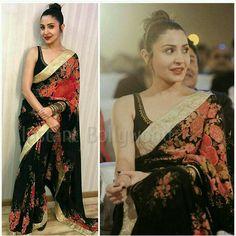 Anushka Sharma in a Sabyasachi saree
