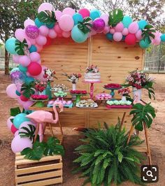 What do you think of this flamingo party? Flamingo Party, Flamingo Birthday, 13th Birthday Parties, Luau Birthday, Birthday Party Decorations, Birthday Party Ideas, Tropical Party Decorations, Aloha Party, Luau Party