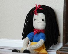 A personal favorite from my Etsy shop https://www.etsy.com/listing/229227562/snow-white-inspired-crochet-doll