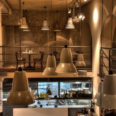 Anglepoise Giant 1227 Pendants at Bodega La Puntual, Barcelona