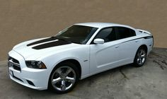 Buy Dodge Charger with stripes Matte Black 2014 Dodge Charger Rt, Dodge Charger Models, Charger Sxt, Charger Srt Hellcat, Gta, Racing Stripes, Chevrolet Chevelle, Car Manufacturers, Dodge Accessories