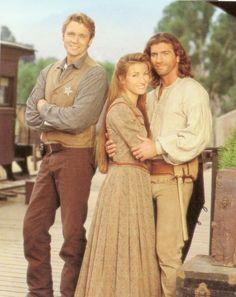 Daniel Simon (John Schneider), Dr. Michaela Quinn (Jane Seymour) & Sully (Joe Lando)
