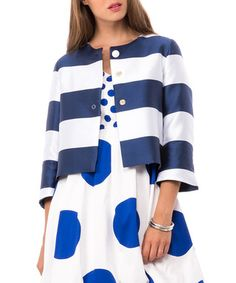 White & blue silk blend jacket Sale - BLUGIRL FOLIES Sale
