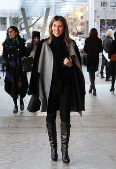 "Marie Claire fashion director and ""Project Runway"" judge Nina Garcia at Lincoln Center.  (Photo: Jenny Norris)"