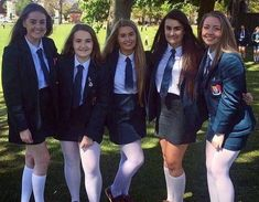 These five girls will learn a hard way as each of them will bend over for six with the headmaster cane Prep School Uniform, School Uniform Outfits, Cute School Uniforms, Girls Uniforms, Geek Chic Outfits, Girl Outfits, Cute Outfits, School Girl Dress, School Wear