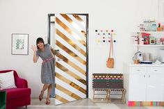 I can't wait to get a place!   Drab Door Remedies: 11 Show-Stopping Interior Door DIY Projects