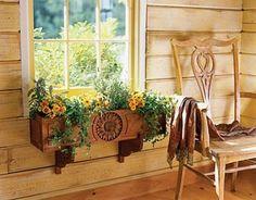 Flores na janela!