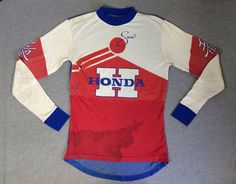 M Regular Size Apparel for Men Vintage Biker, Vintage Racing, Vintage Tees, Vintage Sport, Mx Jersey, Motocross Shirts, Honda, Races Style, Bmx