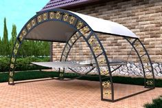 "Гамак двухместный ""Элит"" Steel Furniture, Garden Furniture, Furniture Design, Outdoor Furniture, Wood And Metal, Metal Art, Jardin Decor, Hut House, Outdoor Seating"