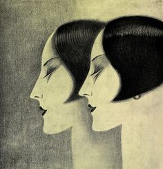 VINTAGE BLOG Claude Lepape : L'Oreal hair dye 1927