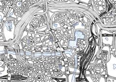 Art by kids with autism - Imaginary City Map by Felix, 11