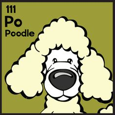 The 111th Elemutt of The Dog Table is the Poodle.  The Dog Table Poster features illustrations of 186 dog breeds. Dogs are organized in a similar layout and structure to the Periodic Table.  #dogsofpinterest #Poodle BUY THE DOG TABLE POSTER  http://thedogtable.com