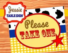 Jessie Inspired / Toy Story Banner Party Sign  by KROWNKREATIONS, $2.00