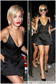 RITA ORA  Hits The Club In Her LBD Post-Split
