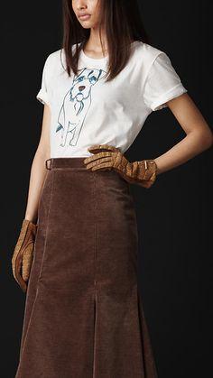 Terrier Graphic Cotton T-Shirt   Burberry $295
