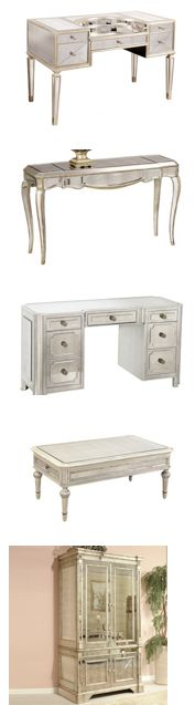 Mirrored furniture: tables, dressers, desks, armoirs, etc form $317. Limited quantities, sale ends Monday