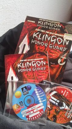 1998's Klingon Honor Guard, with a 1999 internally-branded Atari/Hasbro/Microprose patch disc.