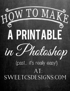 Make a Printable in Photoshop - Sweet Cs Designs - Learn the basics of how to make a printable in photoshop so you can easily make fabulous, beautiful prints- including how to add shapes and change layers. Photoshop Tutorial, Photoshop Actions, Photoshop Design, Adobe Photoshop Elements, Free Photoshop, Photoshop Brushes, Photoshop Photography, Photography Tips, Photography Business